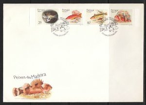 Portugal-Madeira, Scott cat. 133-136. Various Fish issue. First day cover. ^