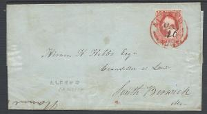 Scott #11, Alfred, ME, 1851 Issue