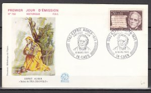 France, Scott cat. B445. D. Auber-Music sheet issue. First day cover. ^