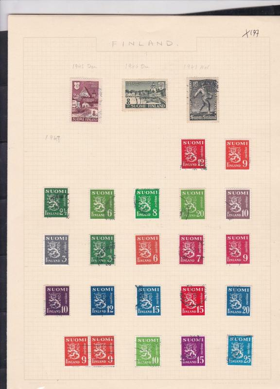 finland 1946-47 & 1950 stamps page ref 18050