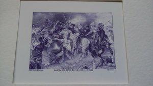 Czeslaw Slania Battle of Lutzen limited edition engraving in folder