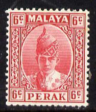 Malaya - Perak 1938-41 Sultan 6c scarlet unmounted mint, ...