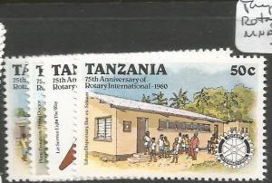 Tanzania Rotary SG 278-91 MNH (9cis)