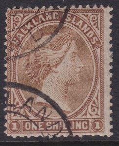 1878 - 1879 Falkland Island QV Queen Victoria 1/ used issue Sc# 4 CV $80.00