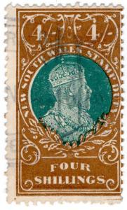 (I.B) Australia - NSW Revenue : Stamp Duty 4/- (1914)