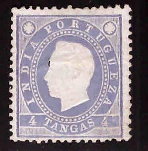 Portuguese India Scott 177  King LuizMNG Thins embossing damaged filler