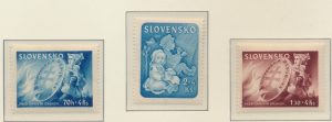Slovakia Stamps Scott #B25 To B27, Mint Hinged - Free U.S. Shipping, Free Wor...