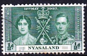 Rhodesia and Nyasaland,1937,Used