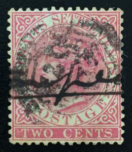 Malaya Straits Settlements 1883 QV 2c postmark B-172 SG#63 M1999