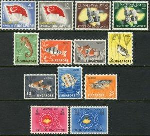 SINGAPORE Sc#49-61 1960-62 Four Complete Sets OG Mint LH