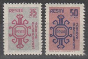 Turkey #O159-60  MNH F-VF CV $2.55 (SU1026)