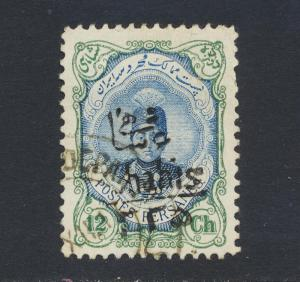 PERSIA 1917, 6c on 12c VF USED Sc#600 (SEE BELOW)