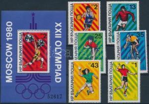 Bulgaria stamp Summer Olympics (V) set + block MNH 1980 WS193592