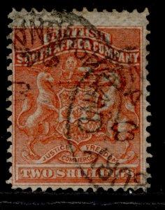 RHODESIA QV SG5, 2s vermilion, USED. Cat £45.