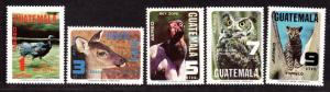 $Guatamala Sc#C675-C679 M/NH, complete set, animals, Cv. $24