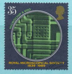 Great Britain  SG 1456 SC# 1288 Used / FU with First Day Cancel-  Microscopia...