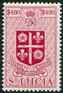 ST LUCIA-1949-50 $4.80 Rose-Carmine Sg 159 MOUNTED MINT V49009