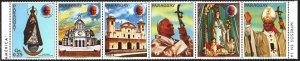 Paraguay. 1983. 3621-26 from the series. Pope Paul 2. MNH.