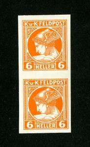 Austria Stamps # NP2 XF OG LH Imperf Pair