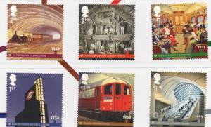 Great Britain Sc 3127-32 2013 150th Anniv  London Underground stamp set mint NH