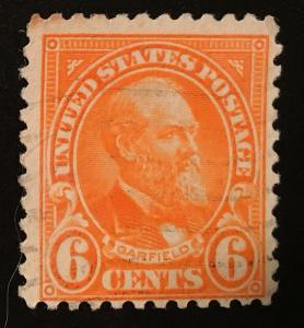 558 1922 Americans Series, 11x11 perf., Circ. single, Vic's Stamp Stash