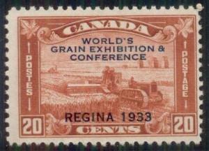 CANADA #203 20¢ Grain Expo Ovpt, og, NH, VF, Scott $80.00