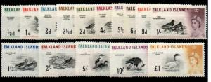 FALKLAND ISLANDS SG193/207 1960 BIRDS MNH