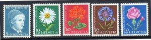 SWEDEN B329-B333 MH SCV $5.10 BIN $3.05 FLOWERS