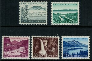 Switzerland B232-6* NH CV $12.50 Semipostals complete set postage stamps