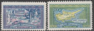 Turkey #1484-5  MNH F-VF  (SU123L)