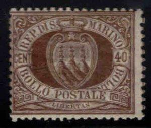 San Marino Scott 18 MH* 1892 stamp