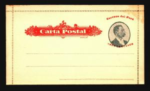 Peru Early 3c Letter Card Unused / Corner Stain / Part Sealed - Z15308