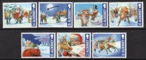 2013 Alderney 483-489 Christmas 10,00 €