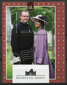 Grenada 2014 MNH Downton Abbey Earl Countess Grantham 1v S/S TV Series Stamps