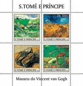 Sao Tome & Principe 2004 VAN GOGH Paintings Sheet Perforated Mint (NH)