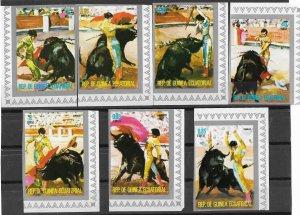 Equatorial Guinea MNH Set Bullfighting Imperf.1975