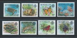 Seychelles #389a-90a, 92a-6a, 98b NH 8 Defins Inscribed 1979
