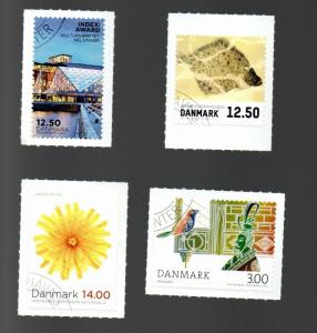 Denmark selection of canceled commemorative stamps from 2012-13 SCV $15