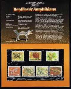 AUSTRALIA STAMP ANIMAL SERIES  MNH STAMP WITH OFFICIAL FOLDER LOT #2