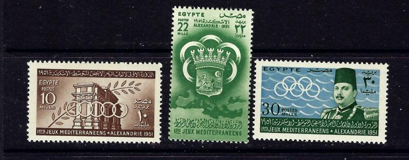 Egypt 292-94 MNH 1951 Sports
