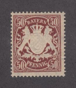 Bavaria Sc 70a MNH. 1890 50pf Coat of Arms on toned paper, VF