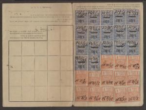France, 1920-21 Employee Insurance Record Card    2;0