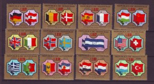 J23979 JLstamps 1974 honduras set mnh #c662-73 upu flags