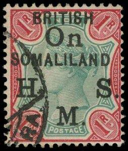 Somaliland Protectorate Scott O1-O5 Gibbons O1-O5 Used Set of Stamps