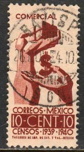 MEXICO 753, 10¢ Census, 1940. Used. F-VF. (455)