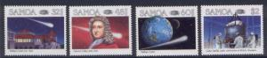 Samoa 666-9 MNH Halley's Comet, Space, Giotto Space probe
