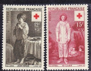 FRANCE SCOTT #B309-310  **MNH** 1956  RED CROSS    SEE SCAN