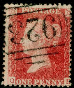 SG40, 1d rose-red, LC14, USED. Cat £12. QH