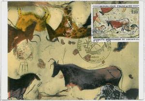 MAXIMUM CARD - POSTAL HISTORY - France: Archaelogy, Hunting, Art, Fauna 1968