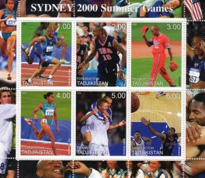 Tajikistan 2000 Sydney 2000 Summer Olympic Games Sheetlet (6) MNH VF